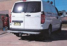 Telstra Type Rear Bars / Rear Step to suit Hyundai iLoad